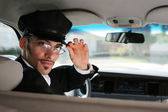 Handsome male chauffeur — Stock Photo
