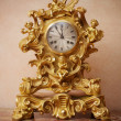 Vintage golden clock. — Foto de Stock