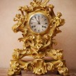 Vintage golden clock. — Stock Photo