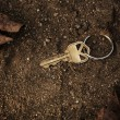 Lost and found key — Stock Photo