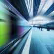 Abstract movement of train — Stock Photo