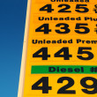 Gas prices — Stock Photo