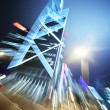 Abstract night architecture background — Stock Photo
