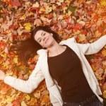 Autumn woman — Stock Photo