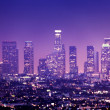 Downtown Los Angeles skyline — 图库照片