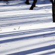 Shadows on snow — Stock Photo