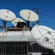 Parabolic dish antennas — Stock Photo