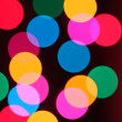 Abstract background of colorful bokeh circles  — Stok fotoğraf
