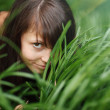Girl in grass — Foto Stock