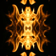 Fire flames background texture — Stok fotoğraf