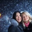 Happy winter girls — Foto Stock