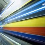 ������, ������: Speeding bus blurred motion
