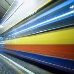 Постер, плакат: Speeding bus blurred motion