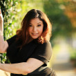 Beautiful plus size model — Stock Photo