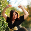 Joyful plus size girl — Stock Photo #32424495