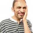 Man with teeths pain — Stock Photo