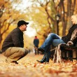 Couple in park — Stock Photo
