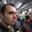 Man in subway car — Stock Photo #32426357