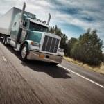 高速公路上的卡车 — 图库照片