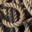Stock Photo: Tangled rope closeup