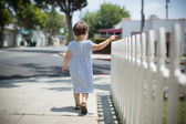 Girl walking — Stock Photo