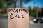 Yard Sale Sign — Stock Photo