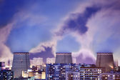 Power plant smoke — Stock Photo