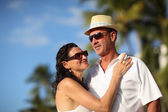 Happy couple on vacation — Stock Photo