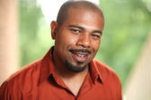 Smiling African American man — Stock Photo
