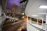 Night city architecture — Stock Photo