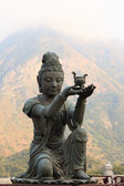 Buddhistickými socha — Stock fotografie