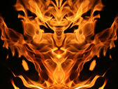 Fire creature — Stock Photo