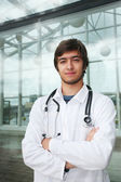 Portrait of a doctor outdoors — Stock Photo