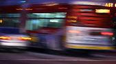 Traffic in LA, blurred motion — Stock Photo