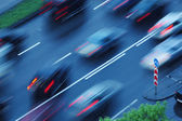 Moving cars, blurred motion — Stock Photo