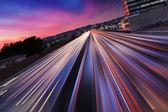 Freeway at night — Stock Photo