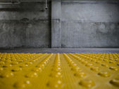 Grunge concrete room interior — Stock Photo
