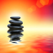 Zen stones over flare background — Стоковое фото