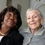 Senior women friends — Zdjęcie stockowe