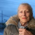 Senior woman at winter — Stock Photo