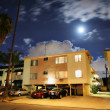 Residential street with apartment buildings — ストック写真