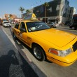 Yellow taxi cab at Hollywood Blvd — Stock Photo