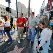 Tourists on Walk Of Fame — Stock Photo