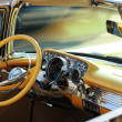 Retro American car interior — Stock Photo