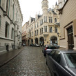 Old Riga street, Latvia. — Foto de Stock