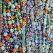 Colorful glass beads background — Stock Photo
