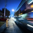 Speeding bus, blurred motion — Stock Photo #32907381