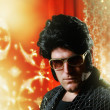 Elvis Presley impersonator — Stock Photo