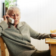 Senior woman talking on the phone — Stock Photo #32907721
