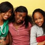 Happy teenage sisters together — Stock Photo